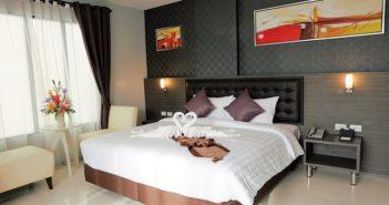 soveværelset der er pyntet